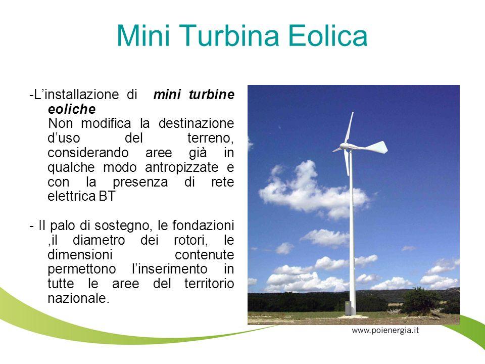 Mini Turbina Eolica -L'installazione di mini turbine eoliche