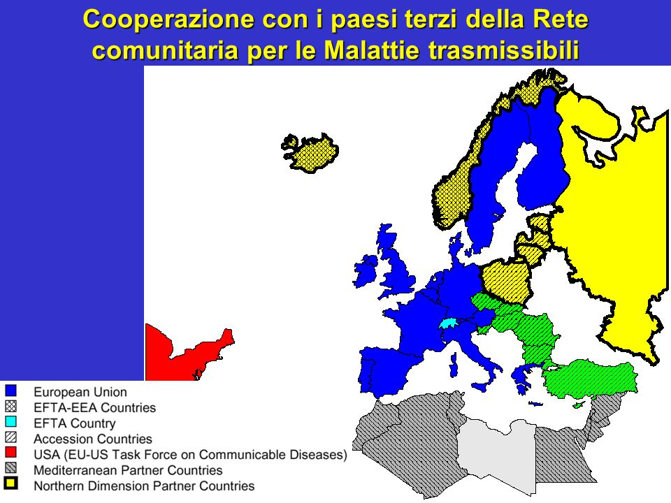 Cooperazione con i paesi terzi della Rete comunitaria per le Malattie trasmissibili