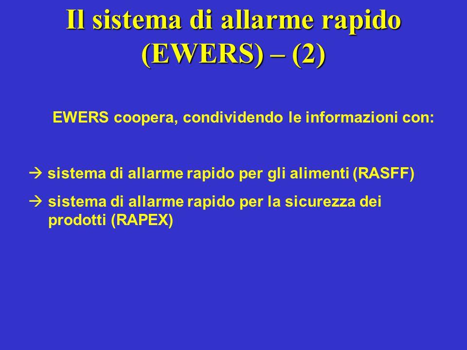 Il sistema di allarme rapido (EWERS) – (2)