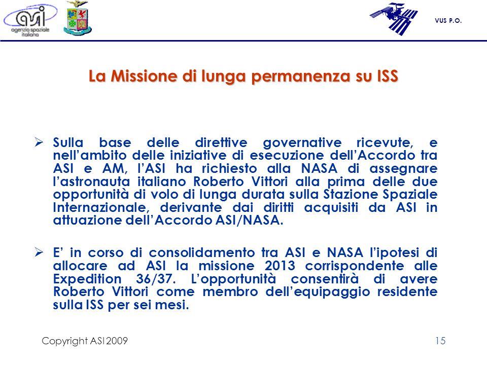 La Missione di lunga permanenza su ISS