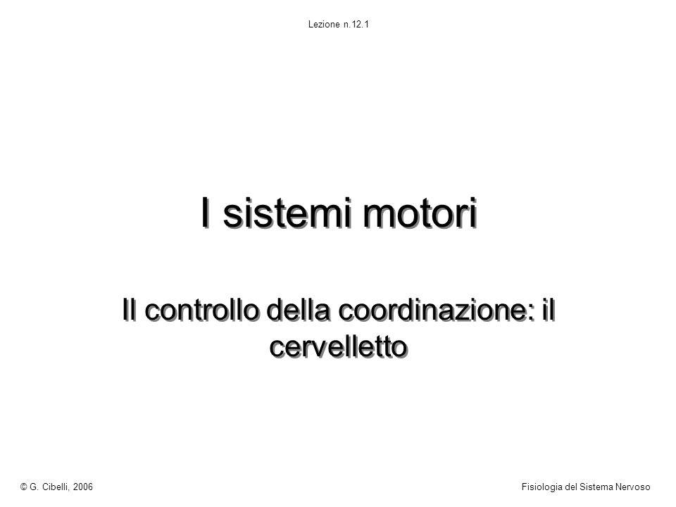 Il controllo della coordinazione: il cervelletto