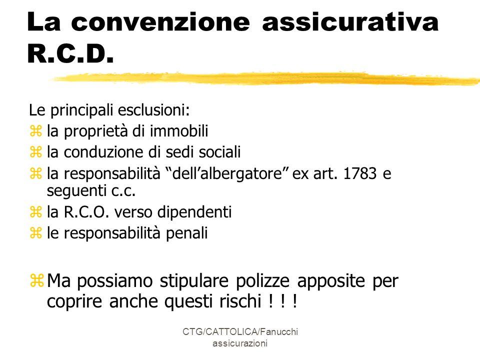 La convenzione assicurativa R.C.D.