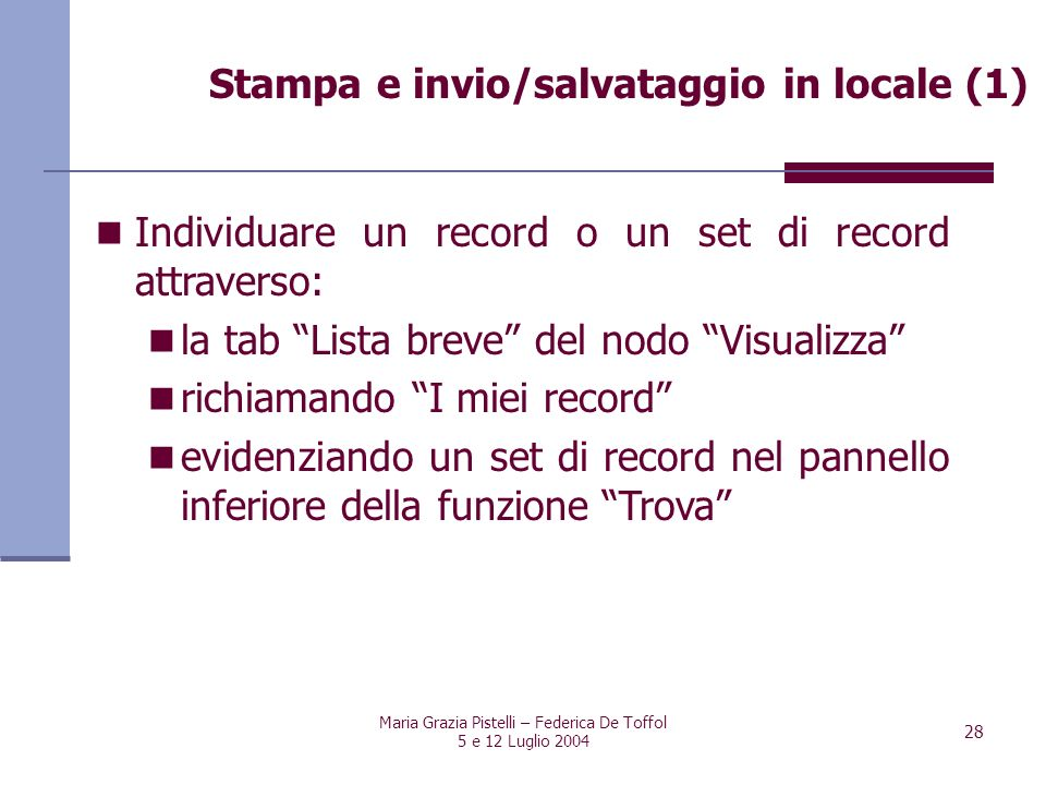 Stampa e invio/salvataggio in locale (1)