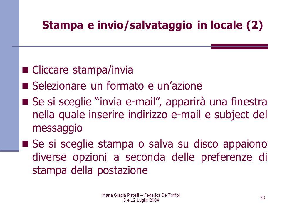 Stampa e invio/salvataggio in locale (2)