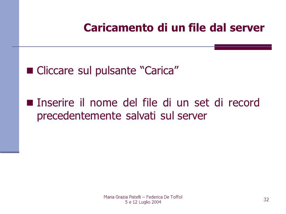 Caricamento di un file dal server