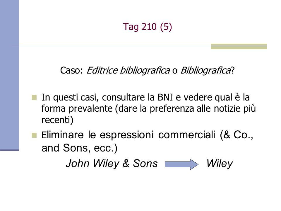 Caso: Editrice bibliografica o Bibliografica