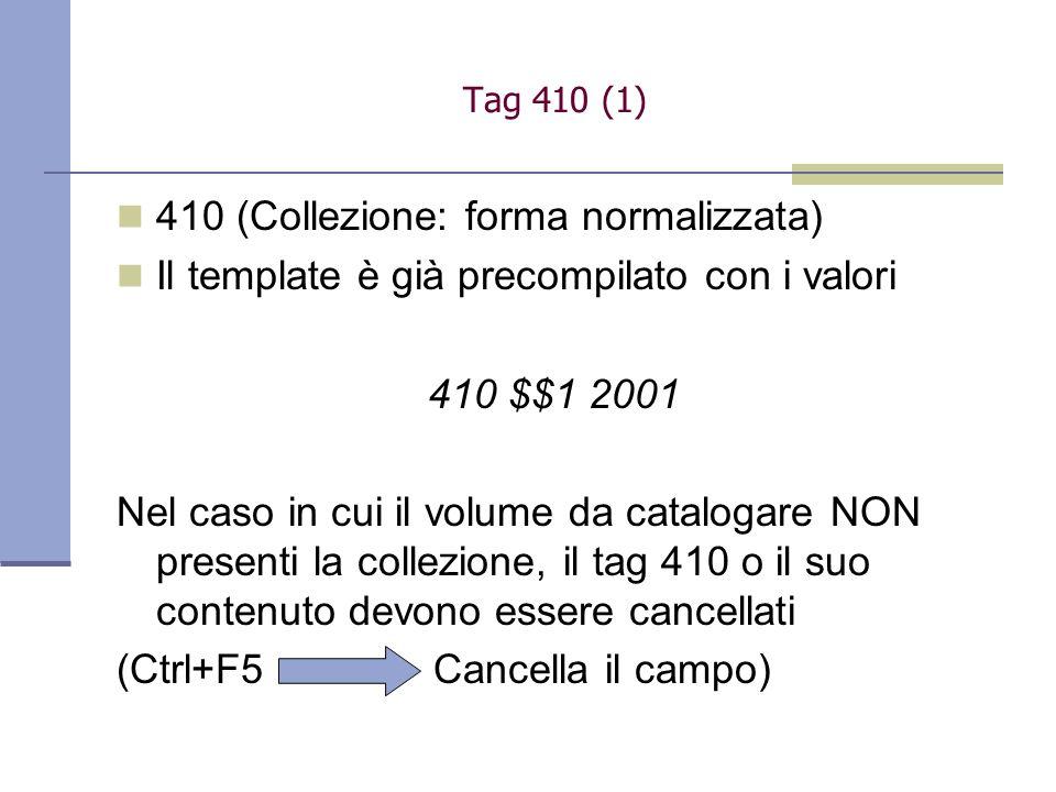 410 (Collezione: forma normalizzata)
