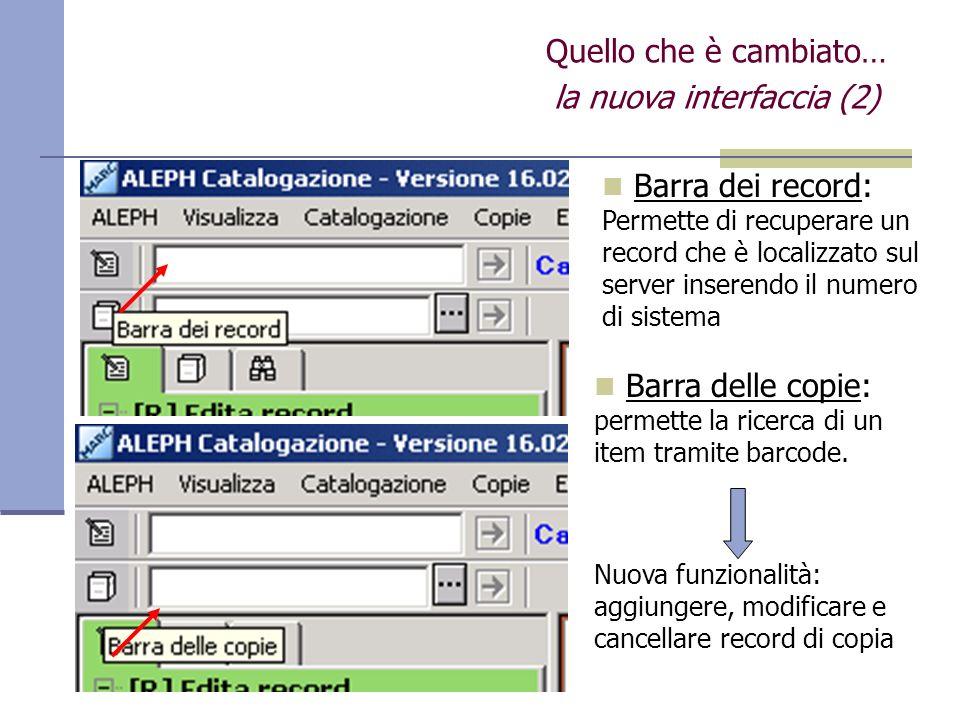 la nuova interfaccia (2)