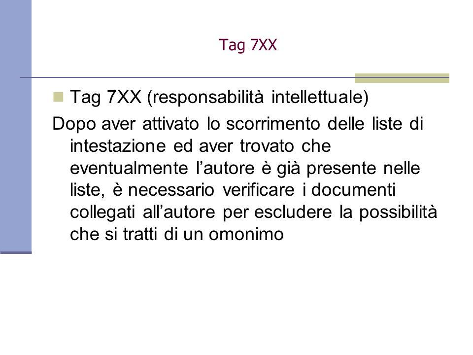 Tag 7XX (responsabilità intellettuale)