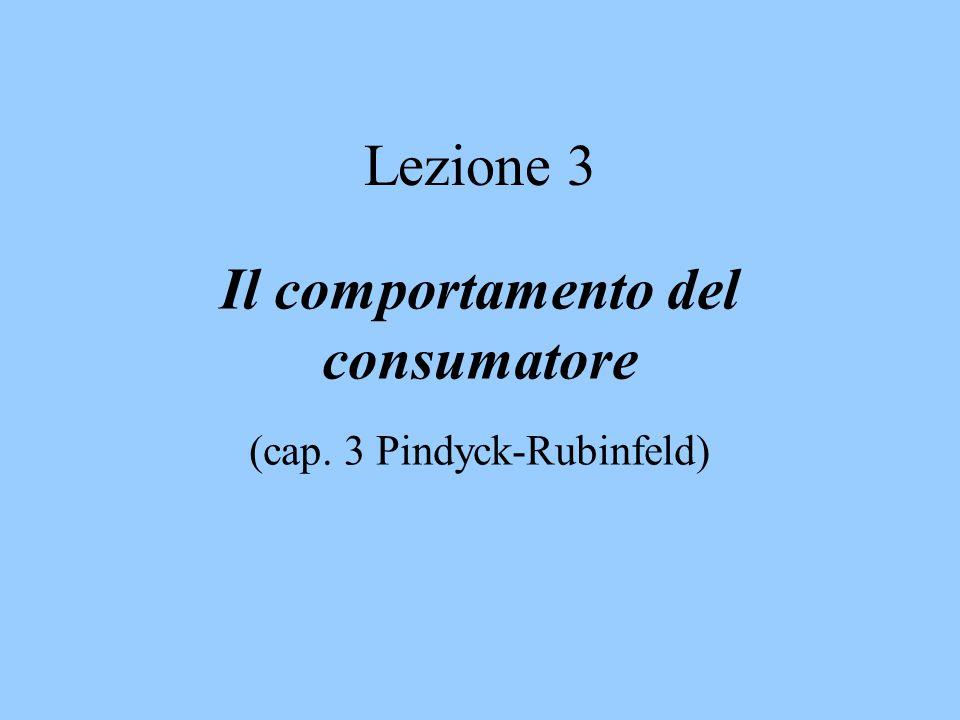 Il comportamento del consumatore (cap. 3 Pindyck-Rubinfeld)