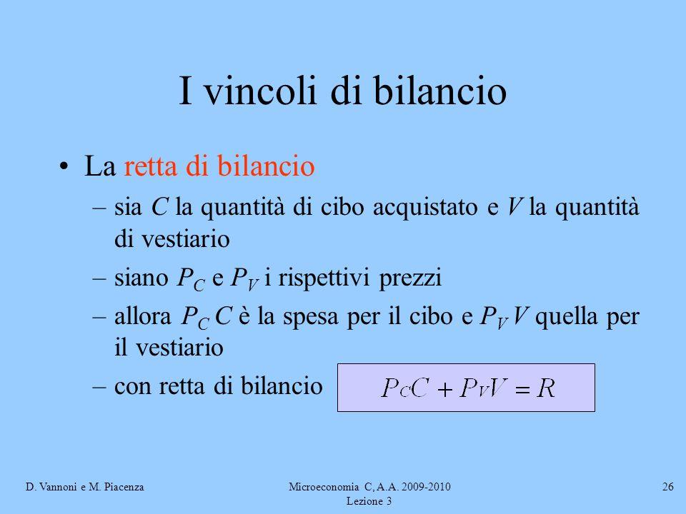 Microeconomia C, A.A. 2009-2010 Lezione 3