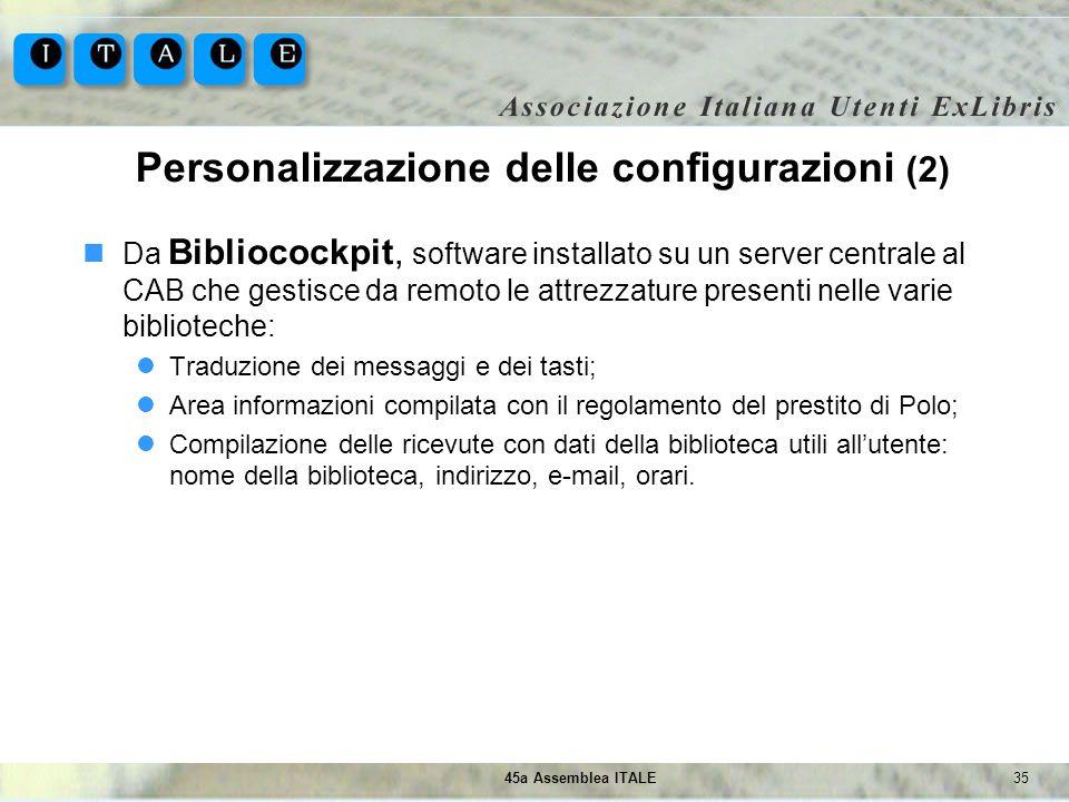 Personalizzazione delle configurazioni (2)