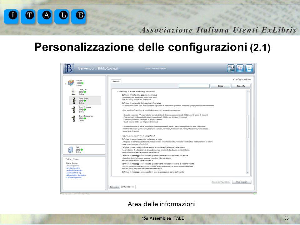 Personalizzazione delle configurazioni (2.1)