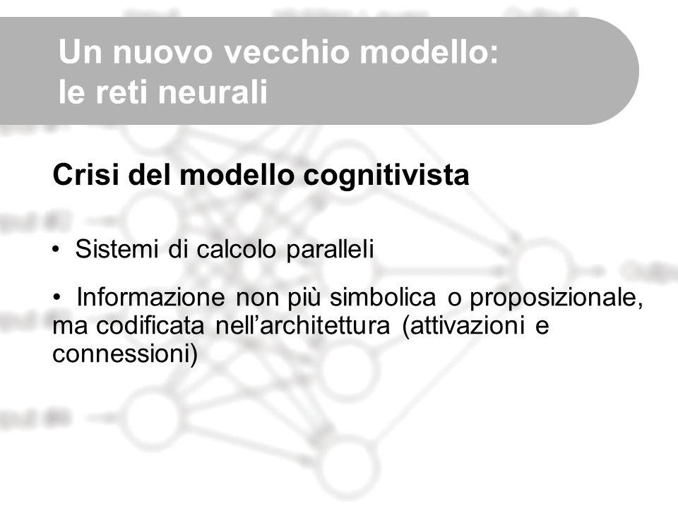 Un nuovo vecchio modello: le reti neurali