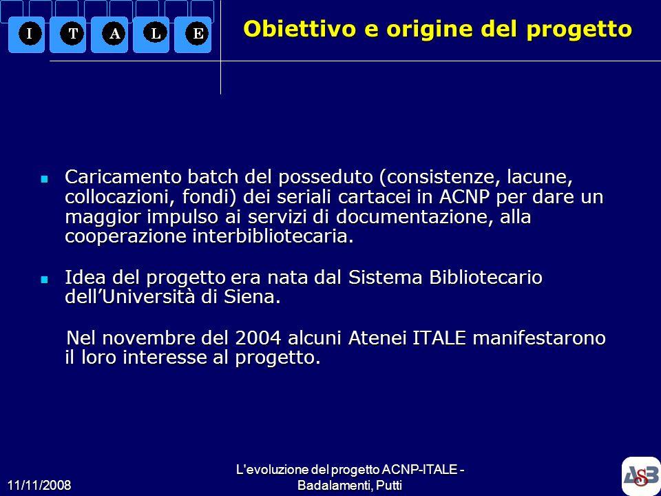 Obiettivo e origine del progetto