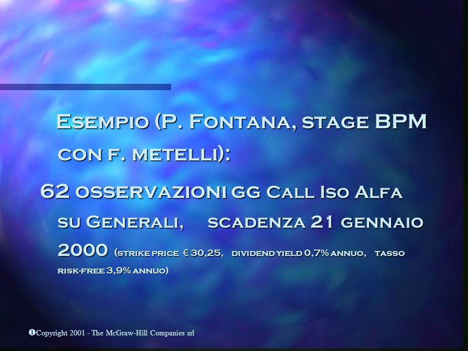 Esempio (P. Fontana, stage BPM con f. metelli):