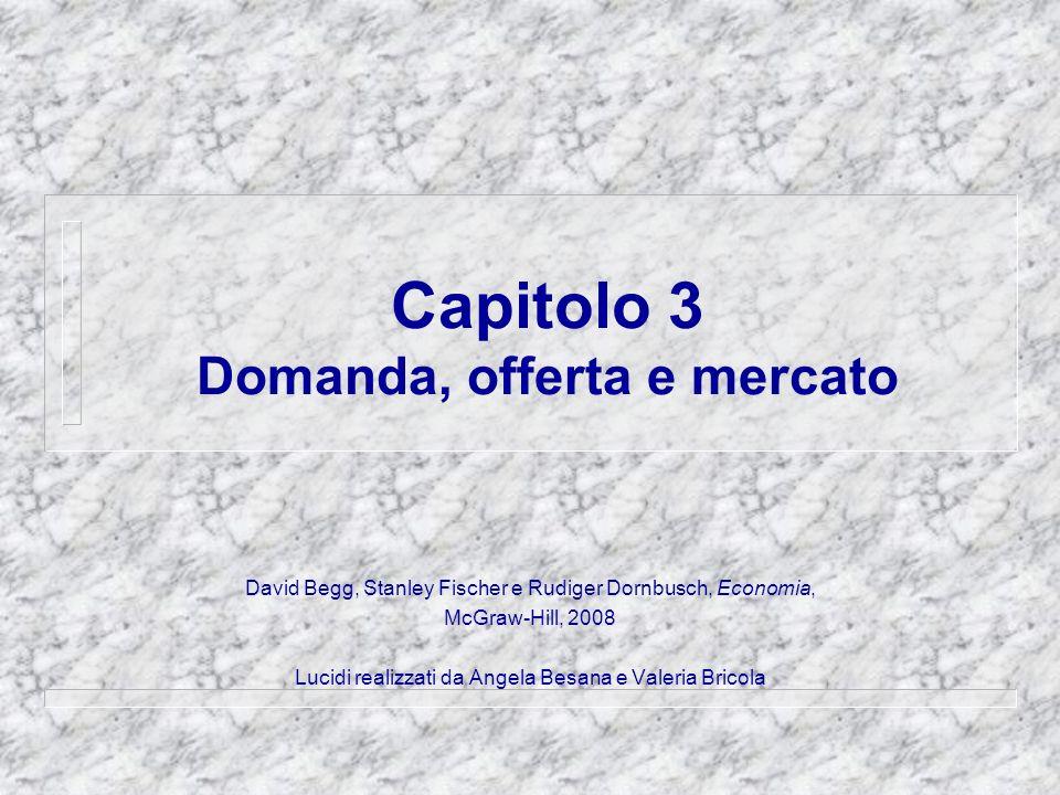 Capitolo 3 Domanda, offerta e mercato