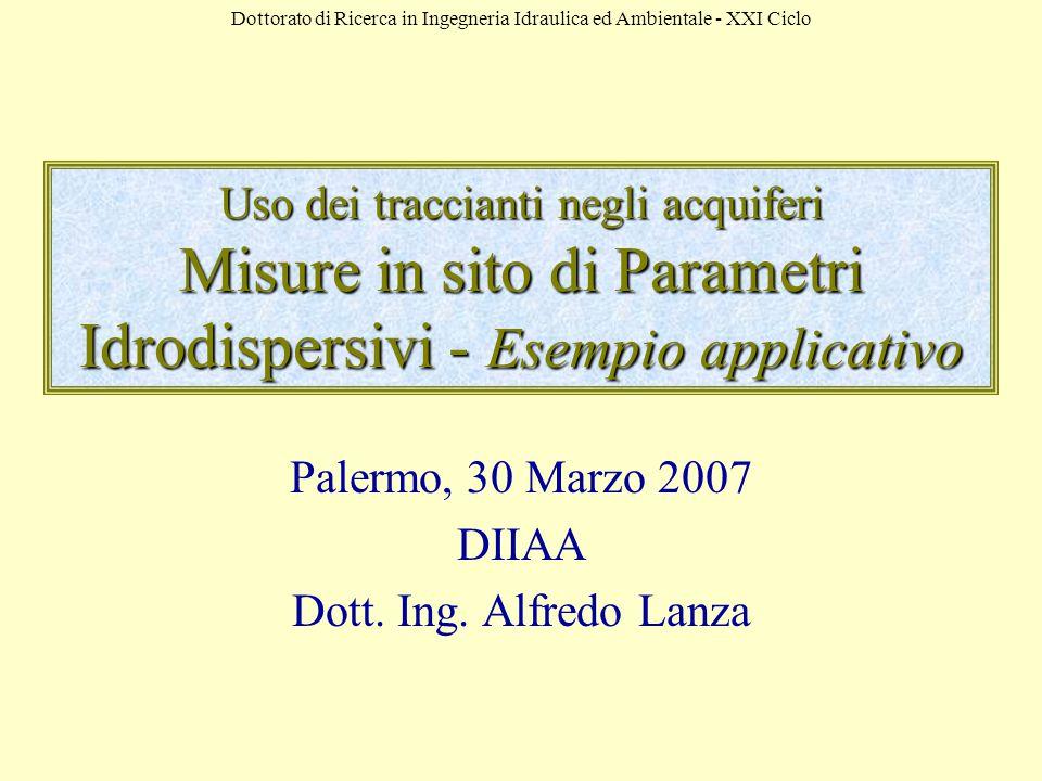 Palermo, 30 Marzo 2007 DIIAA Dott. Ing. Alfredo Lanza