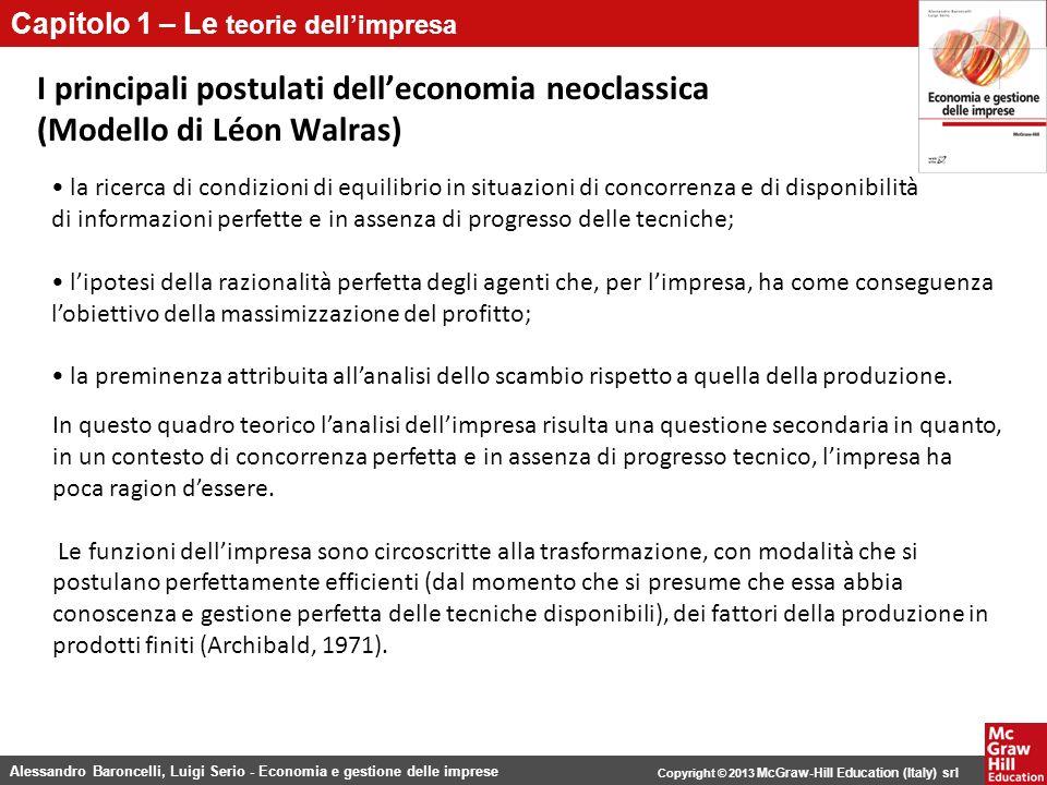 I principali postulati dell'economia neoclassica (Modello di Léon Walras)