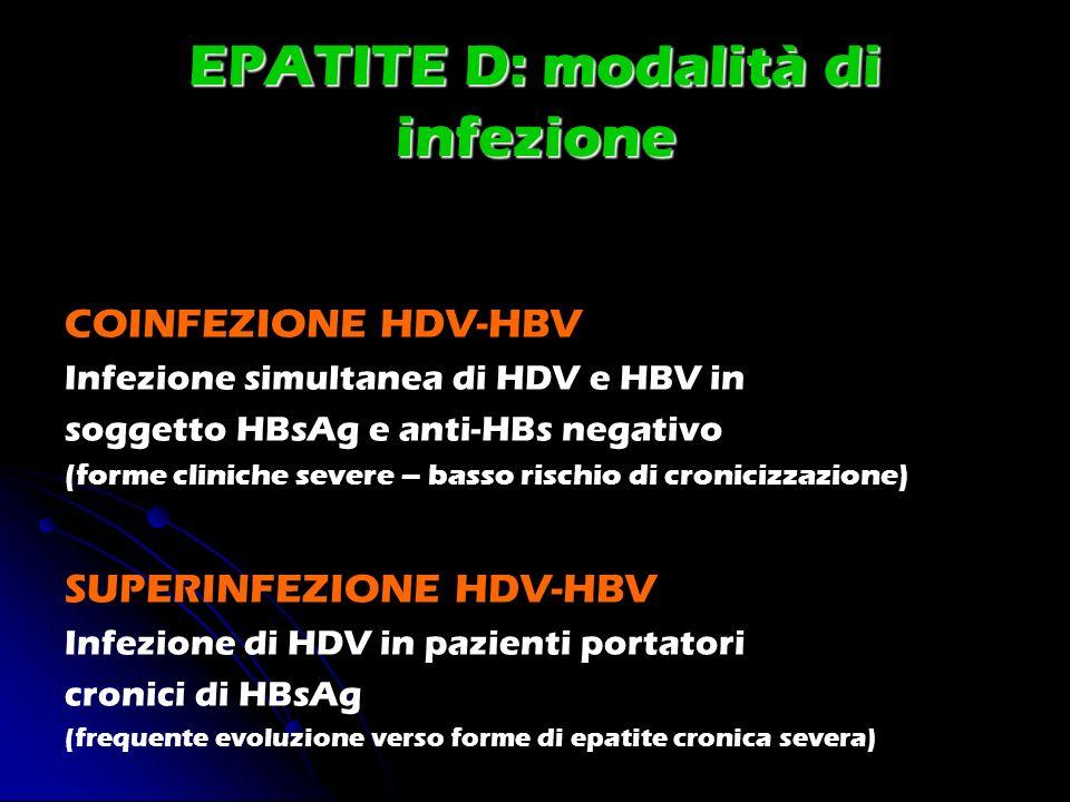 EPATITE D: modalità di infezione