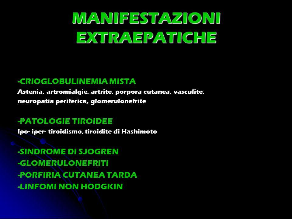 MANIFESTAZIONI EXTRAEPATICHE