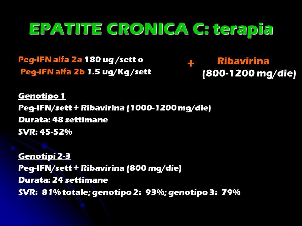 EPATITE CRONICA C: terapia