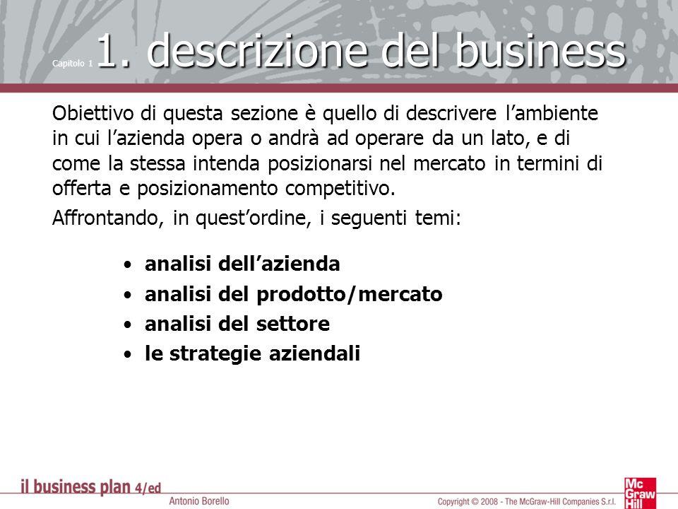 Capitolo 11. descrizione del business