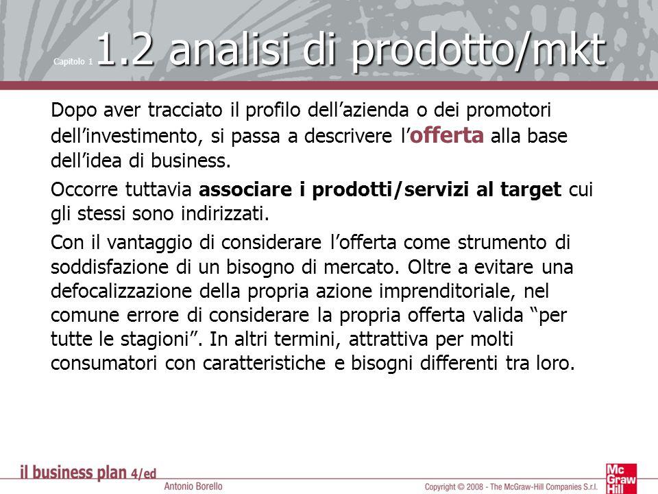 Capitolo 11.2 analisi di prodotto/mkt