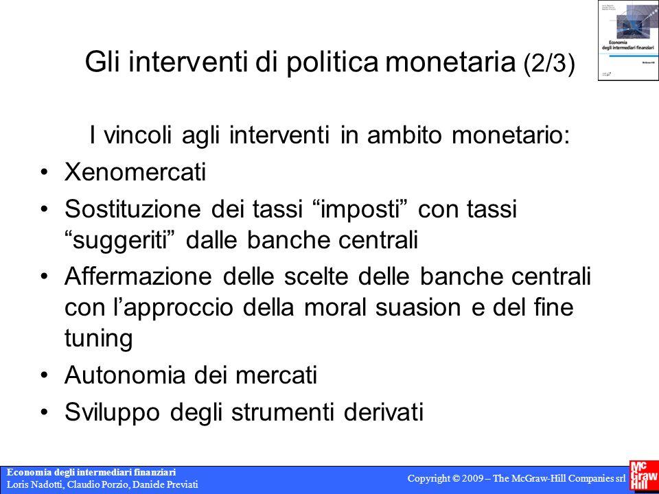 Gli interventi di politica monetaria (2/3)