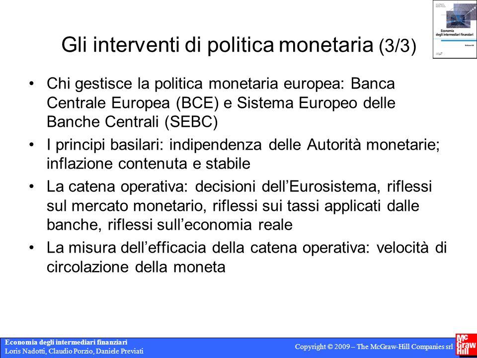 Gli interventi di politica monetaria (3/3)