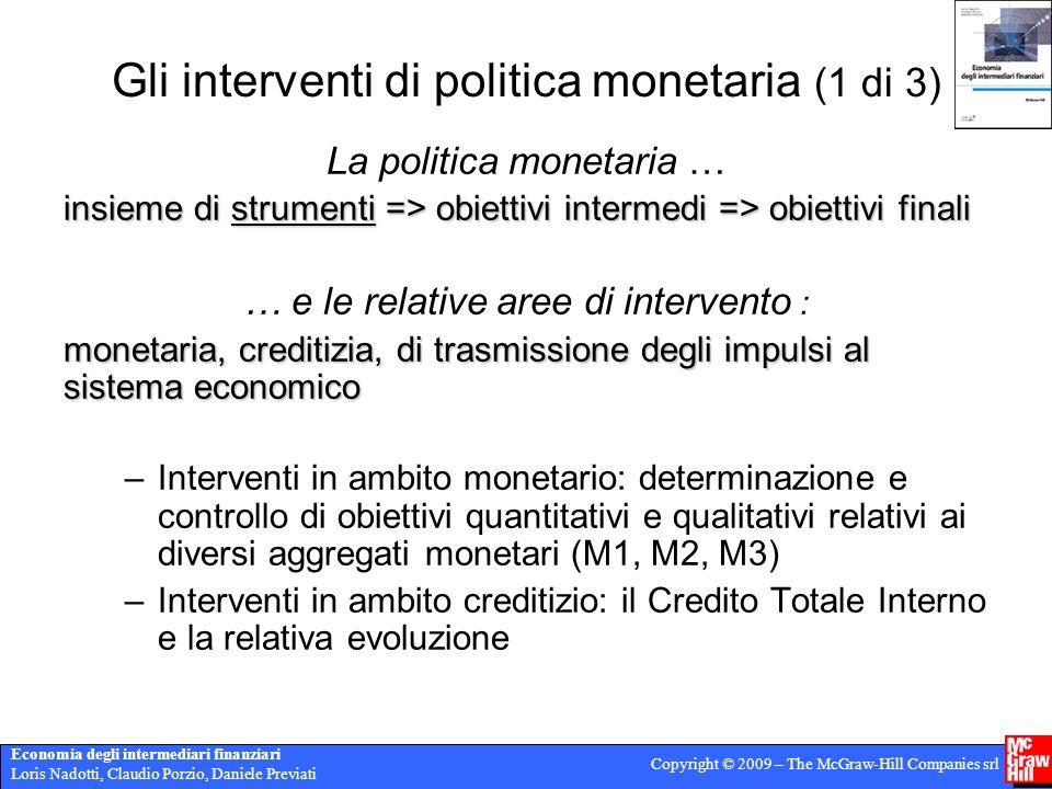 Gli interventi di politica monetaria (1 di 3)
