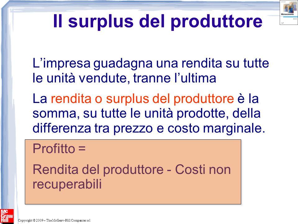 Il surplus del produttore