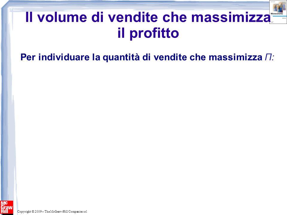 Il volume di vendite che massimizza il profitto