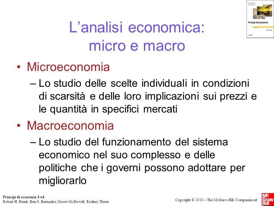 L'analisi economica: micro e macro