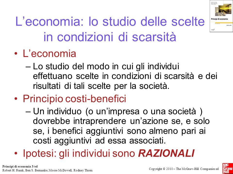 L'economia: lo studio delle scelte in condizioni di scarsità