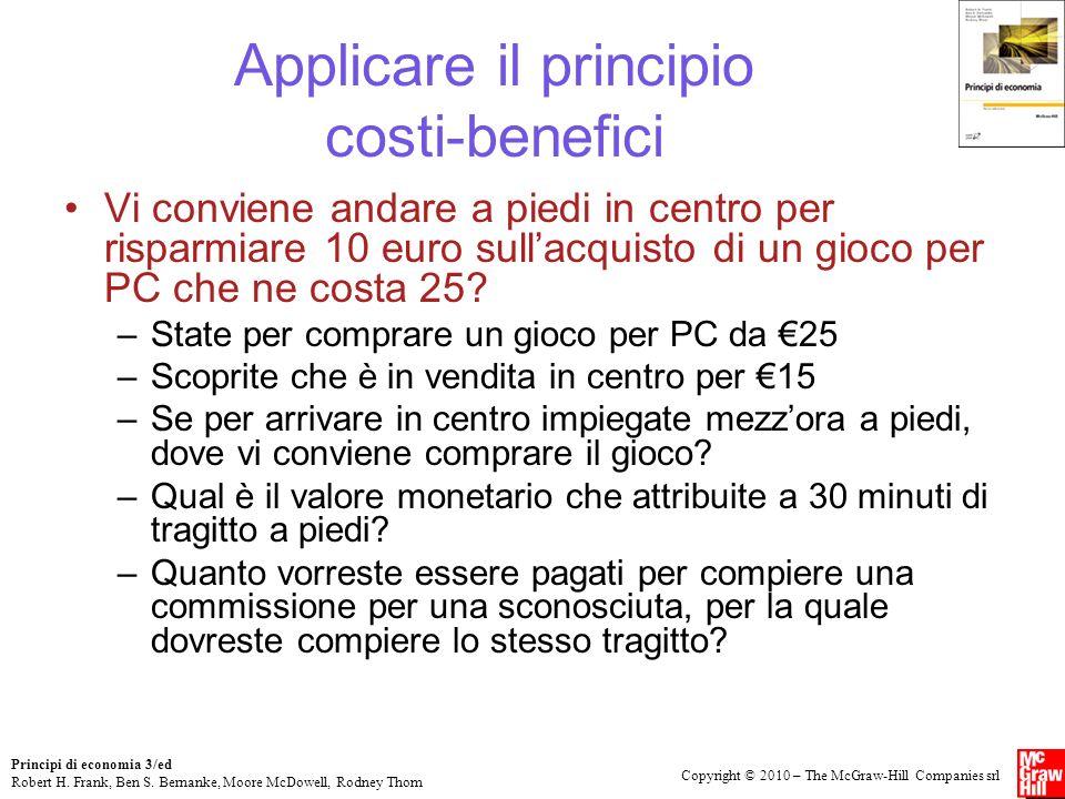 Applicare il principio costi-benefici