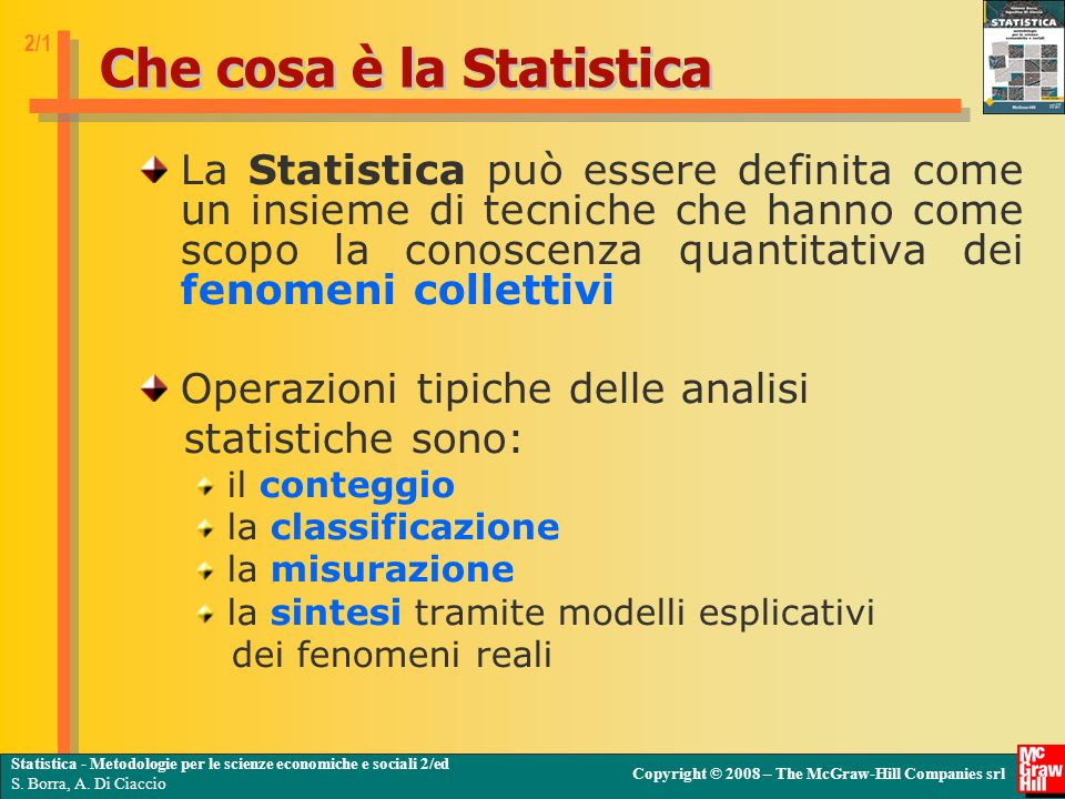 Che cosa è la Statistica
