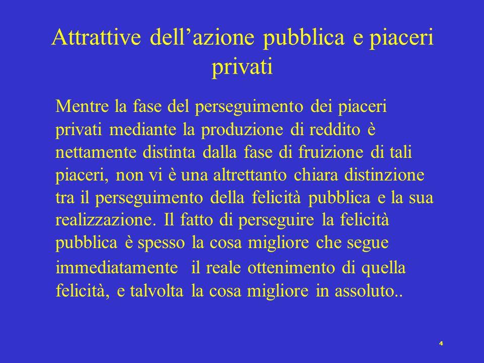 Attrattive dell'azione pubblica e piaceri privati