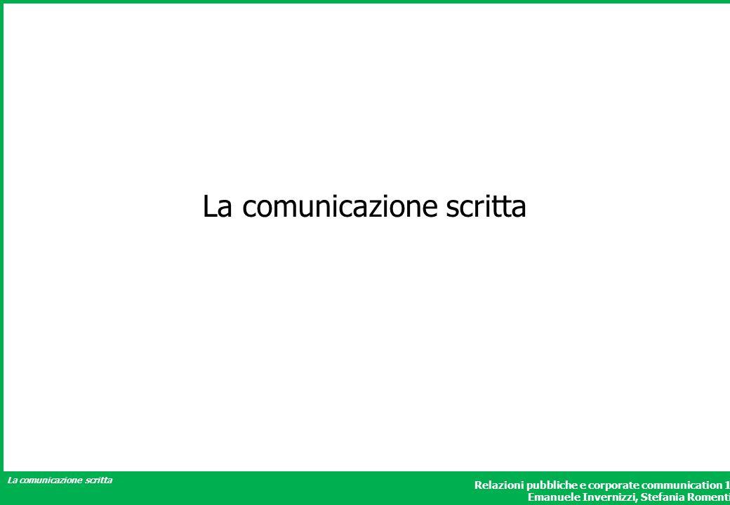 La comunicazione scritta