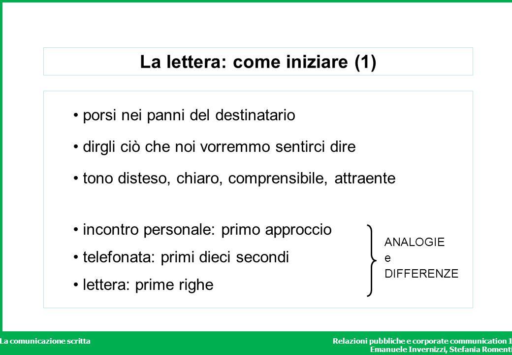 La lettera: come iniziare (1)