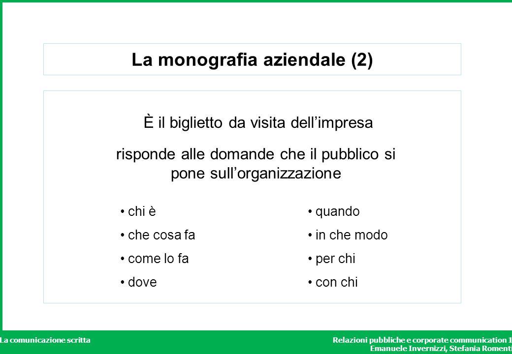 La monografia aziendale (2)