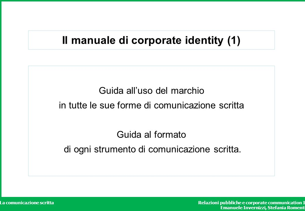 Il manuale di corporate identity (1)