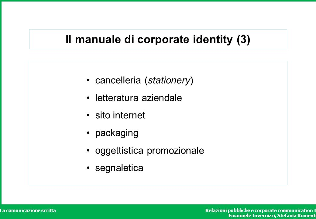Il manuale di corporate identity (3)