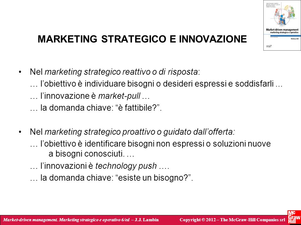 MARKETING STRATEGICO E INNOVAZIONE