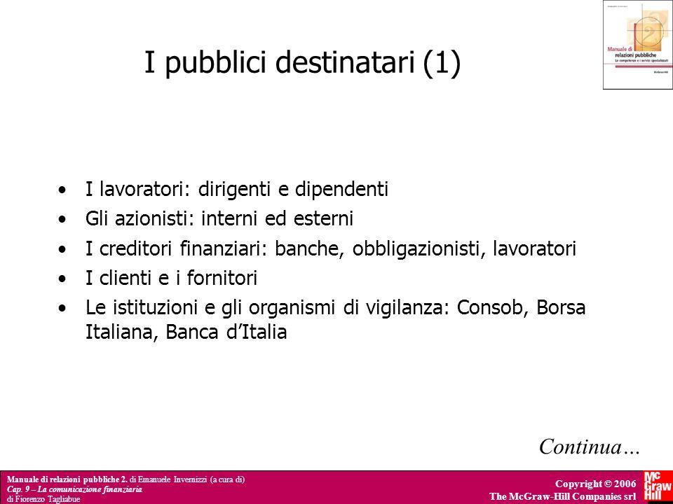 I pubblici destinatari (1)