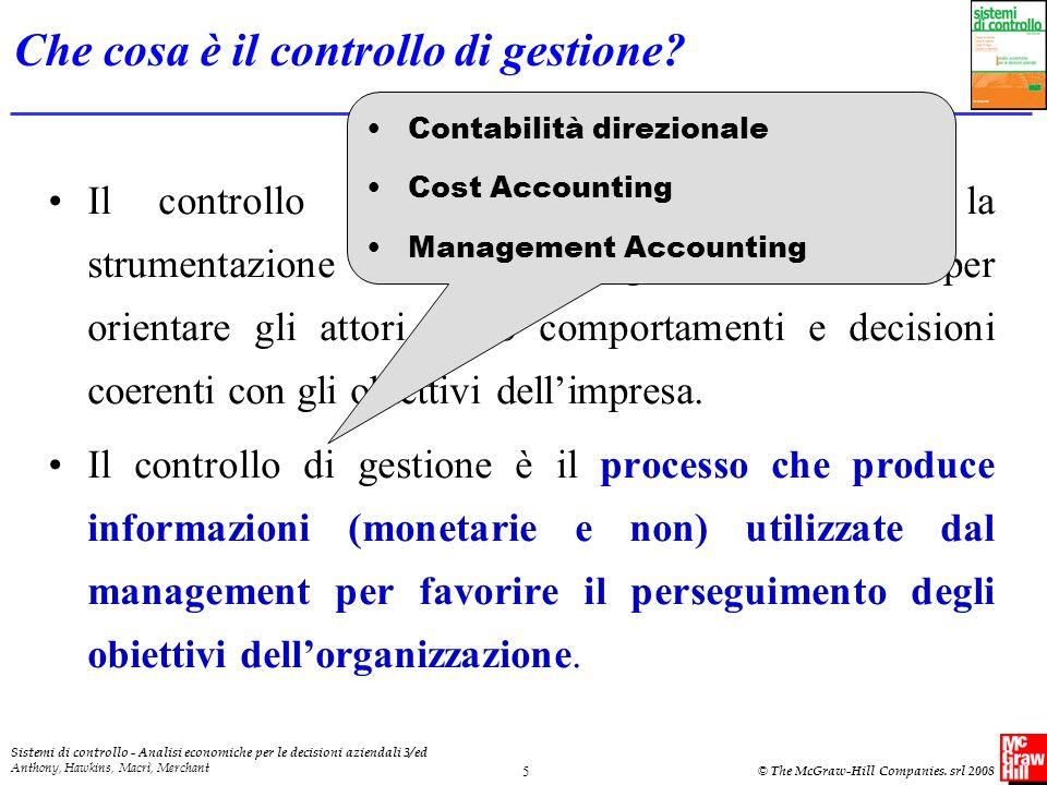 Che cosa è il controllo di gestione