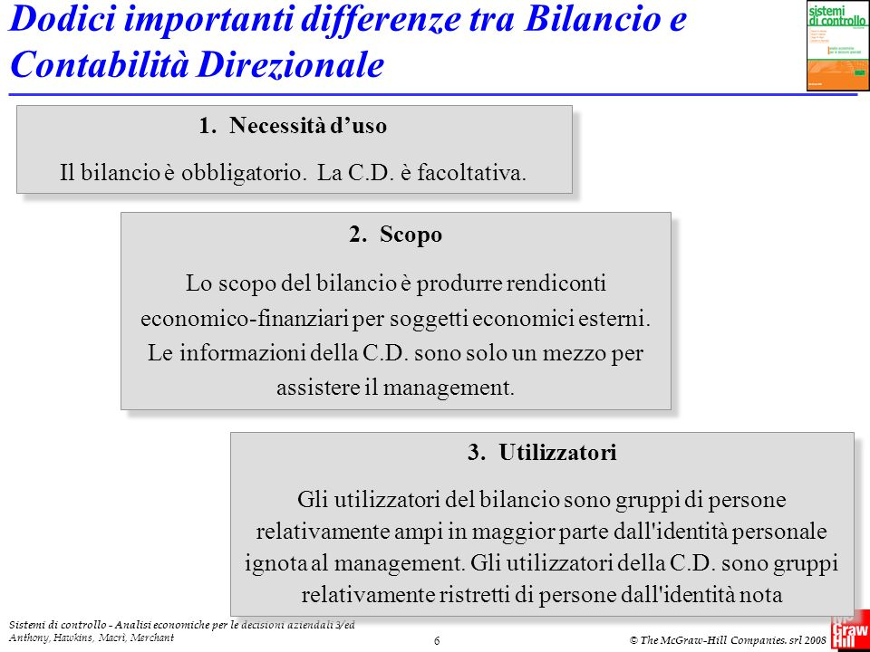 Dodici importanti differenze tra Bilancio e Contabilità Direzionale