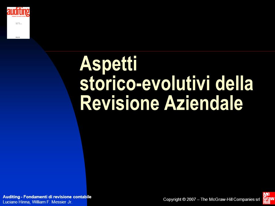 Aspetti storico-evolutivi della Revisione Aziendale