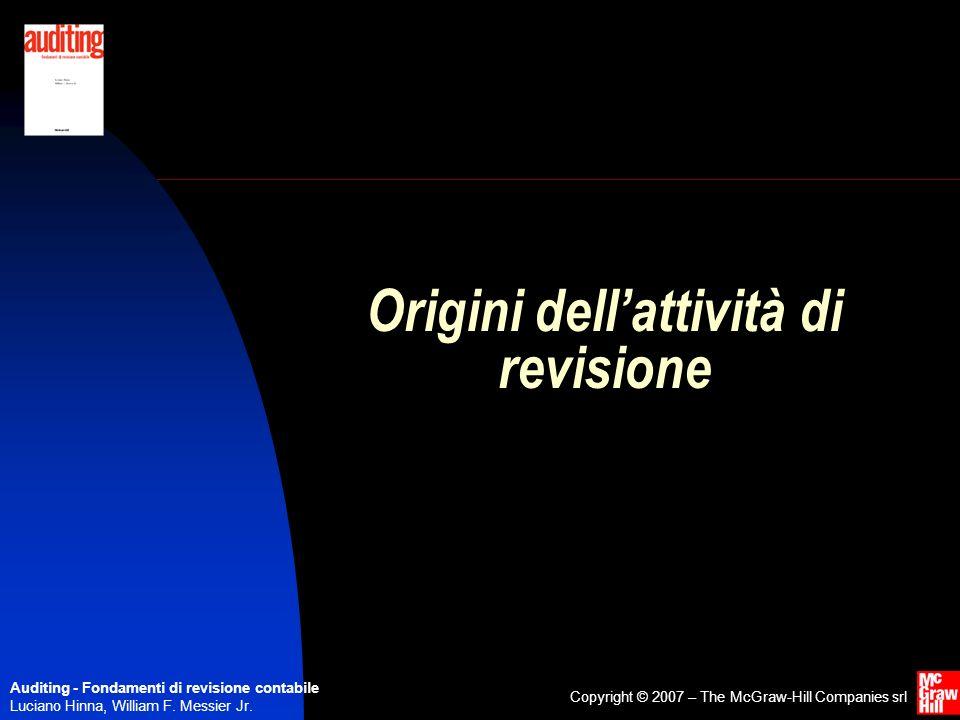 Origini dell'attività di revisione