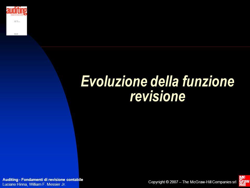 Evoluzione della funzione revisione